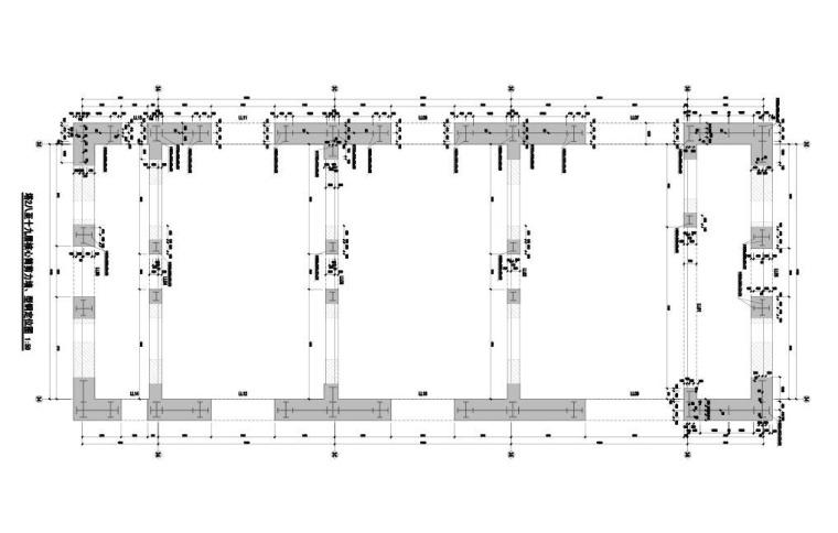 T2八~十九层核心筒剪力墙、型钢定位图
