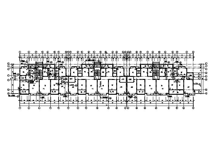5套多层住宅户型平面图(CAD)
