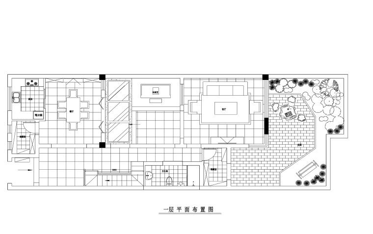 400平现代风格联体别墅装修施工图+效果图