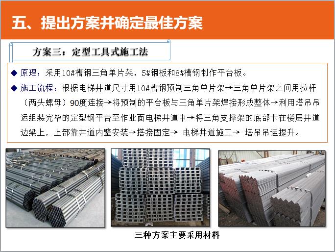 QC成果超高层电梯井道内工具式安全操作平台