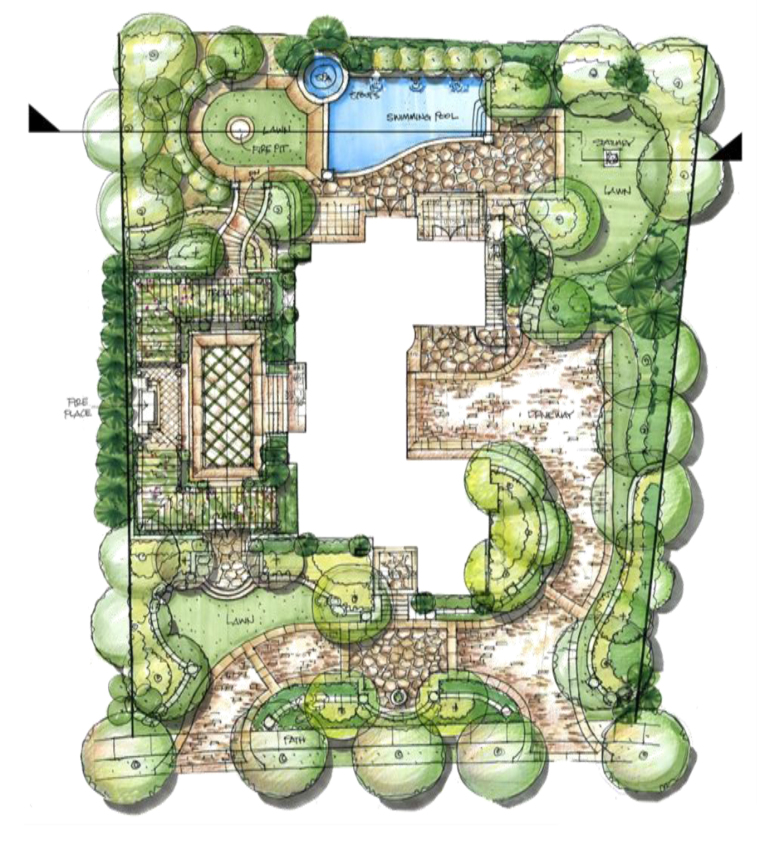 33张庭院平面图参考意向