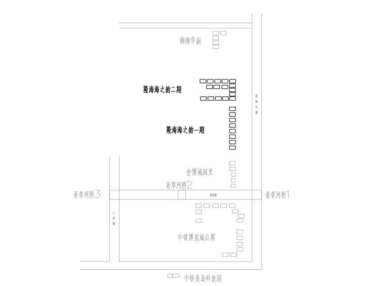 青岛中铁博览城周边区域景观亮化工程初设图