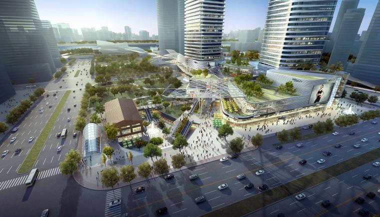 凯德置地·武汉来福士广场规划设计方案+效果