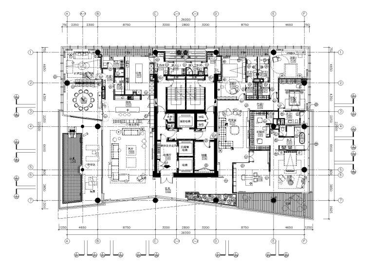 [广东]-深圳湾一号T2-28户型样板房施工图