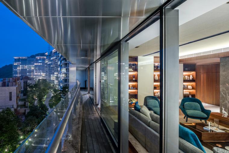 深圳汉京九榕台两套顶层复式别墅+庭院设计
