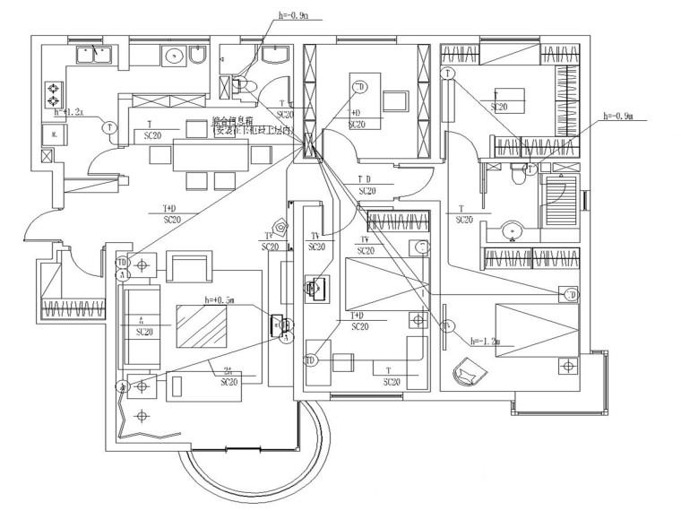 某公馆电气施工及装修图