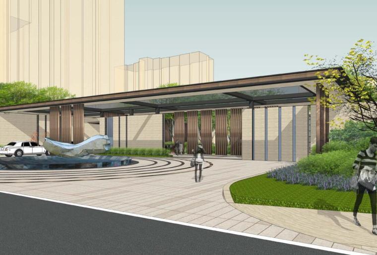 [天津]新中式风格高档居住院子景观方案