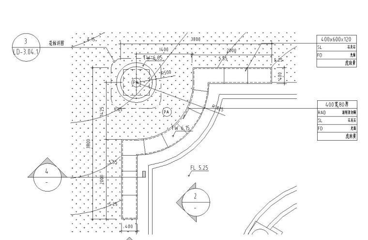 景观细部施工图|景观墙八详图设计