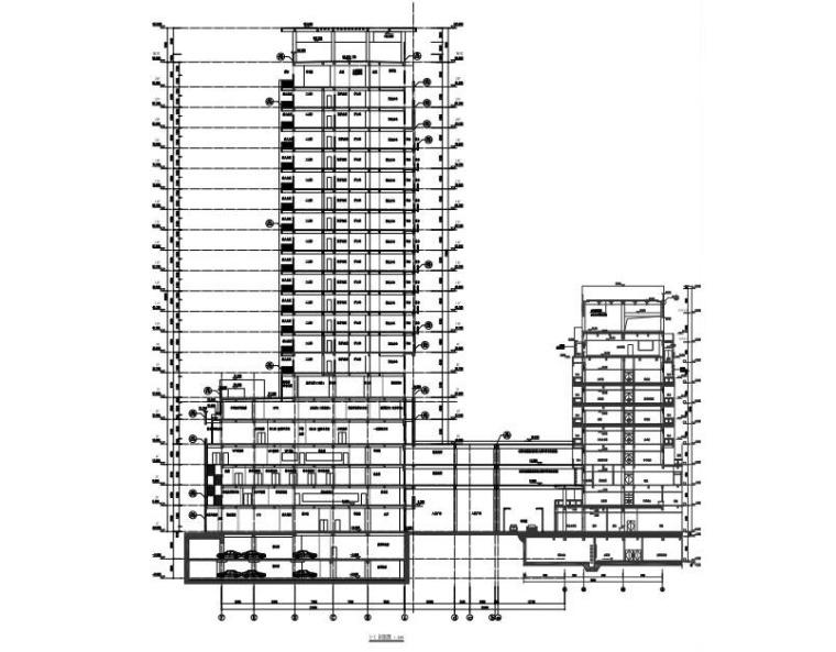 住院大楼总剖面图