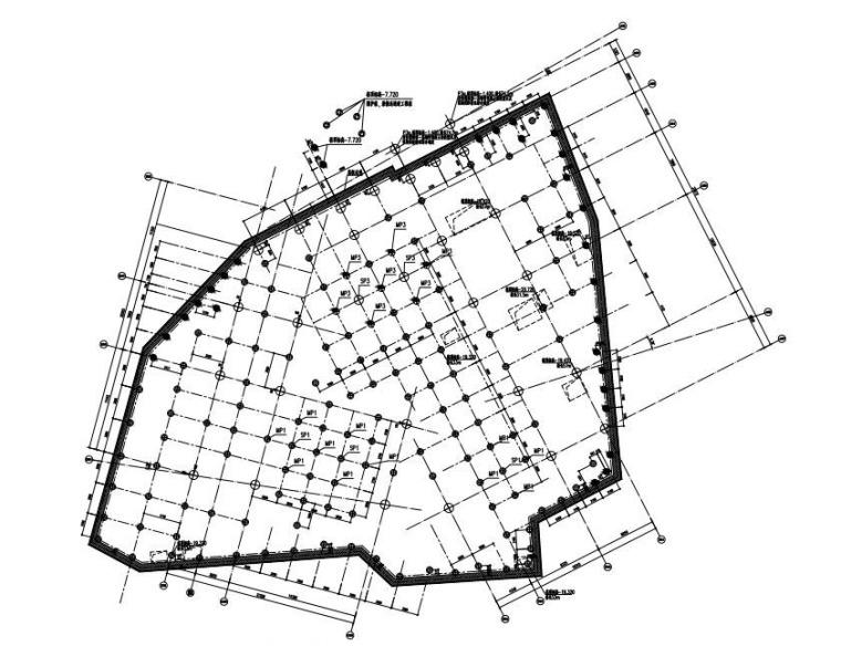 8层商业空间钢框架结构施工图2017