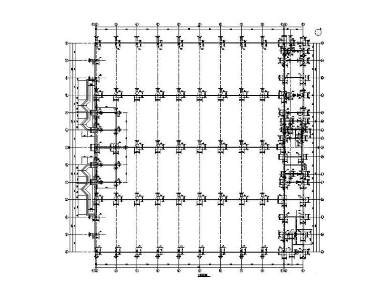 混凝土排架轻钢屋盖厂房建筑结构施工图2016
