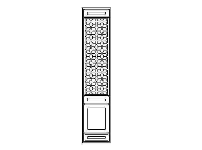 63套古代门扇CAD图纸
