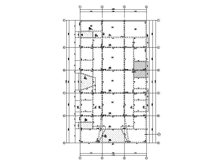 钢混框架结构肉菜市场结构施工图2015