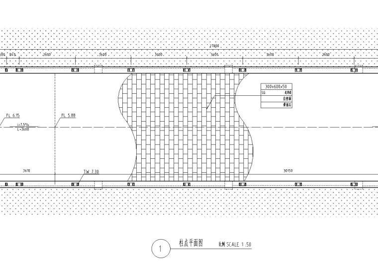 景观细部施工图|车库入口廊架六详图设计