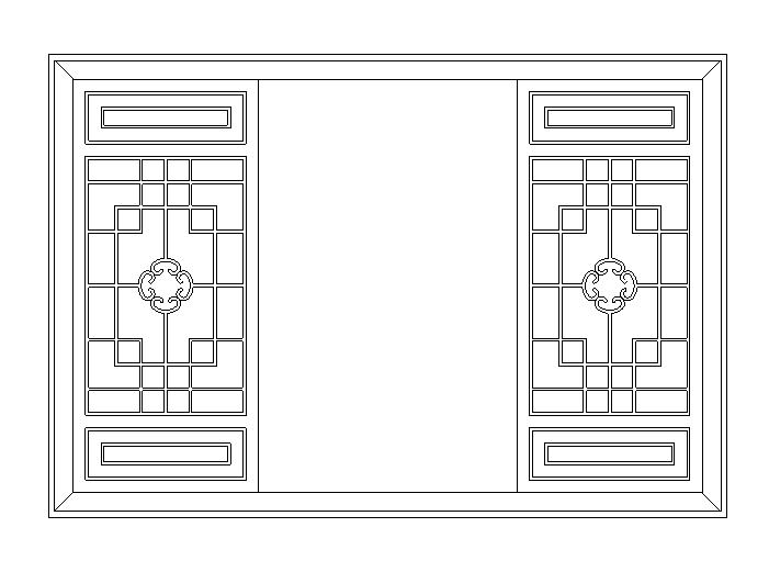 177套建筑常用窗和窗帘大样图(CAD)