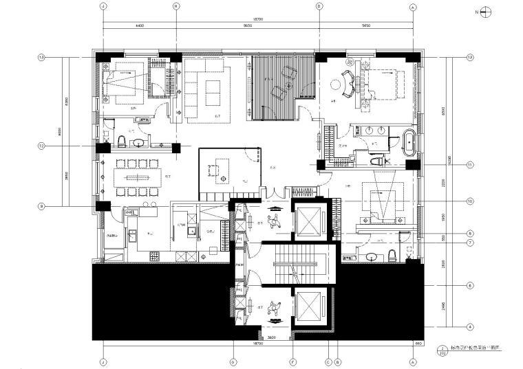 [北京]-中赫万柳书院C2标准层样板房施工图