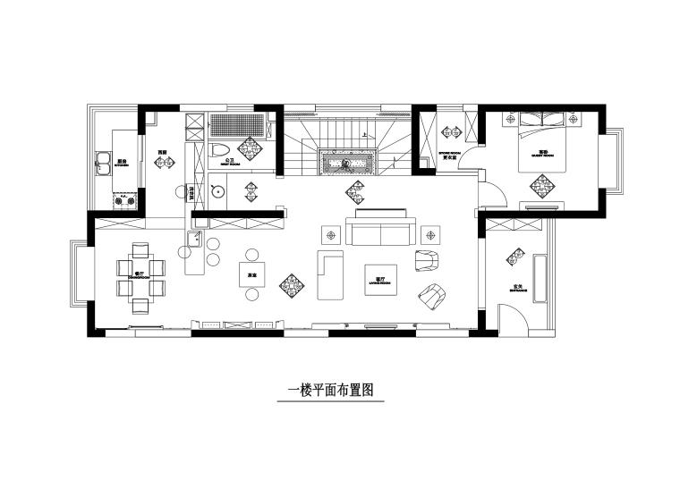 山西阳泉200平跃层公寓装修施工图+效果图