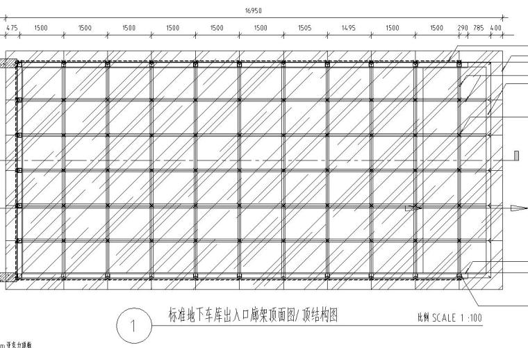 景观细部施工图|车库入口廊架十详图设计