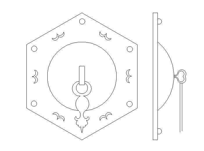56套建筑常用中式门锁大样图(CAD)