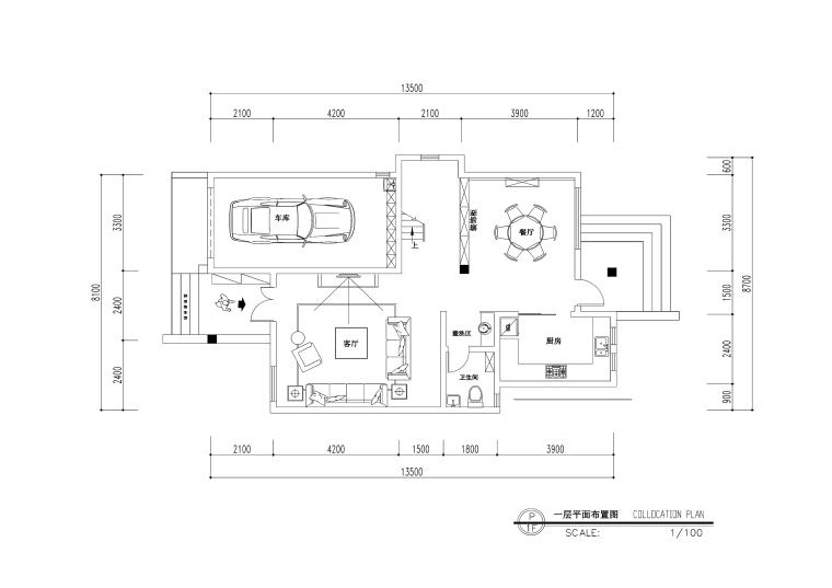 欧式风格三层三居室住宅装修施工图+效果图