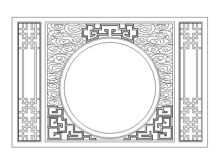 47套建筑常用中式屏风大样图(CAD)