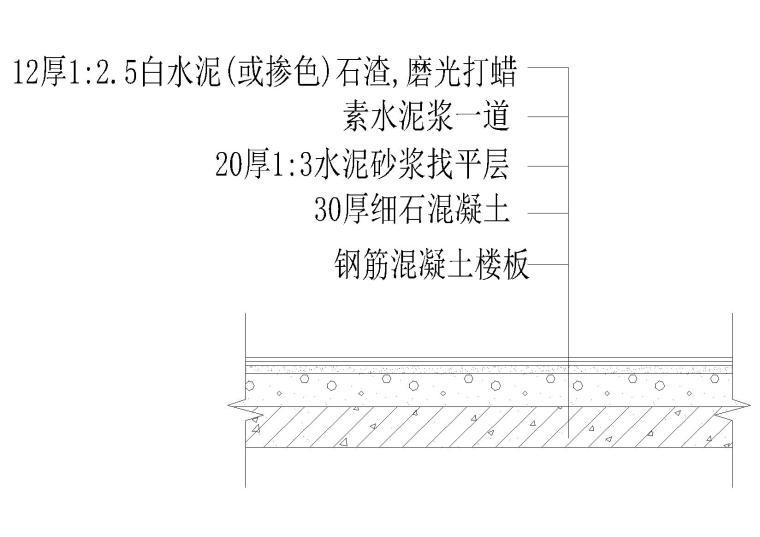 楼地面建筑详图(钢柱楼板,水磨石楼面等)