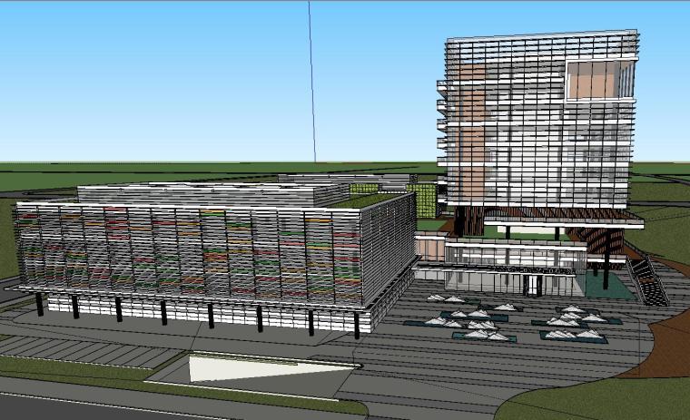科莱恩化工上海总部研发大楼建筑模型