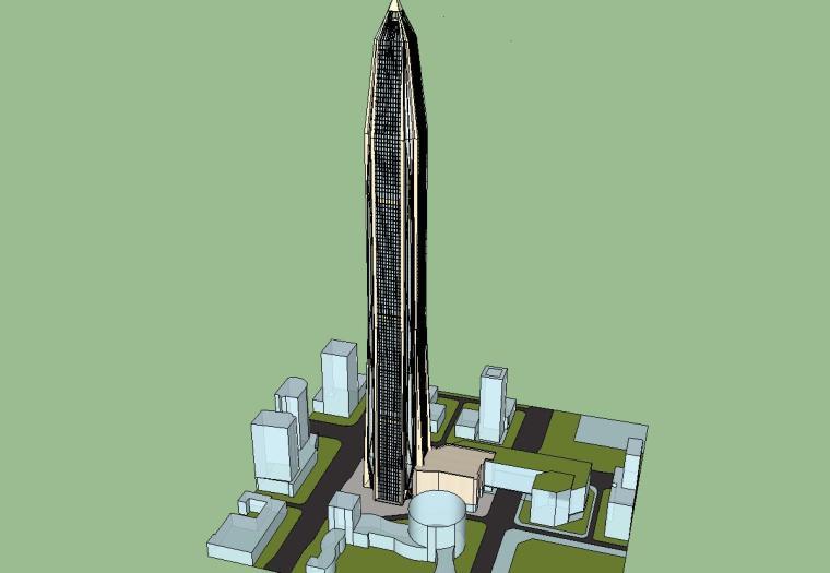 超高层平安国际金融中心建筑模型设计