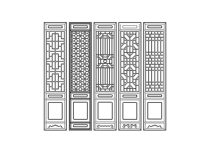135套中式古门设计模块CAD图纸