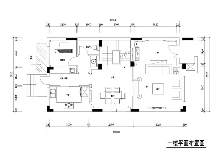 300平独栋别墅室内装修施工图+效果