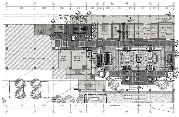 [陕西]西安丽思卡尔顿酒店施工图+效果图