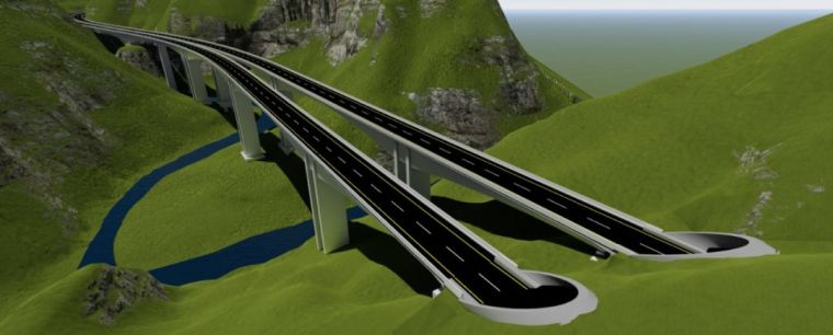四川巴中石桥河特大桥BIM应用实践案例