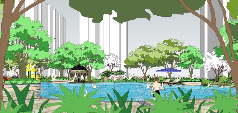 住宅小区建筑景观模型设计