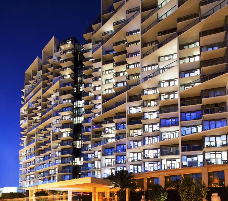 [图集案例]迈阿密南海滩W酒店官方摄影+平面