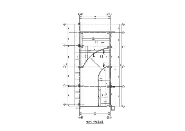 框剪结构生产楼结构施工图纸
