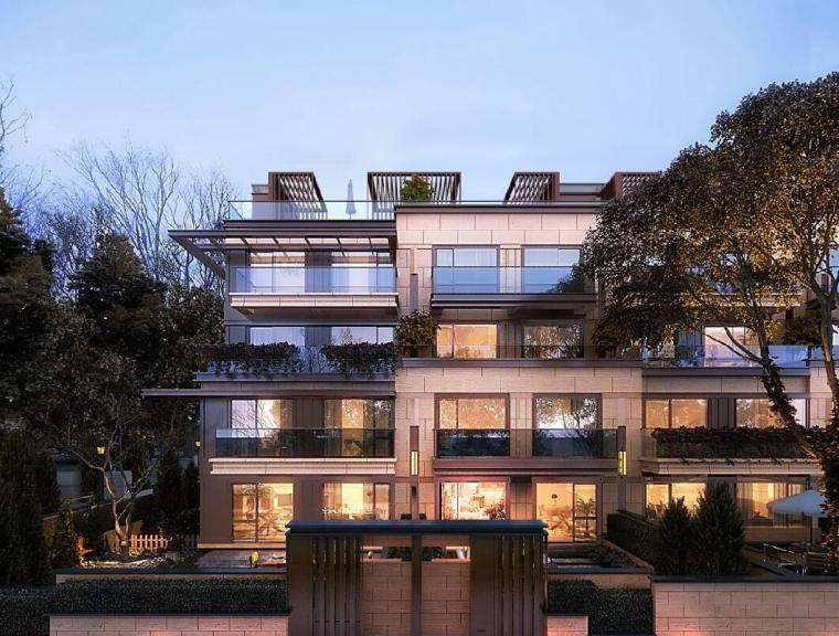 新亚洲风格洋房建筑模型设计