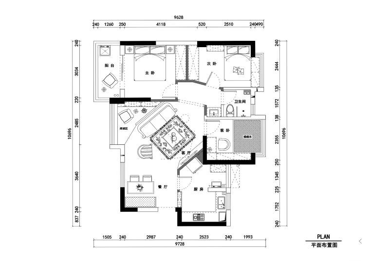 美式风格私人住宅室内装修施工图+效果图