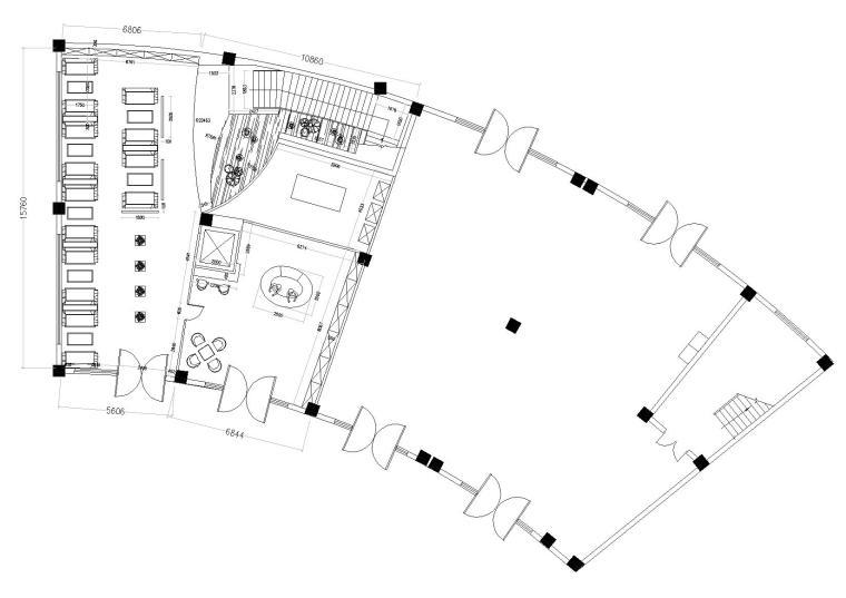 [上海]松江咖啡館室內裝飾方案施工圖