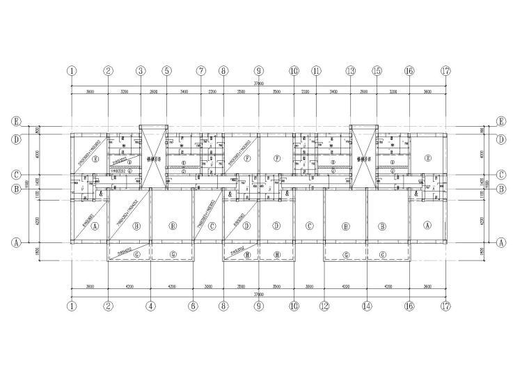 某六层砌体住宅楼结构施工图纸
