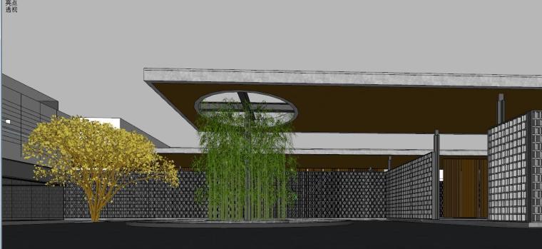 中式风格展示区建筑模型