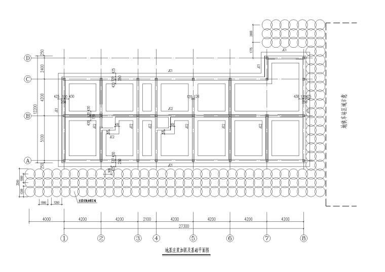 单层砖混结构自建住宅楼结构施工图纸