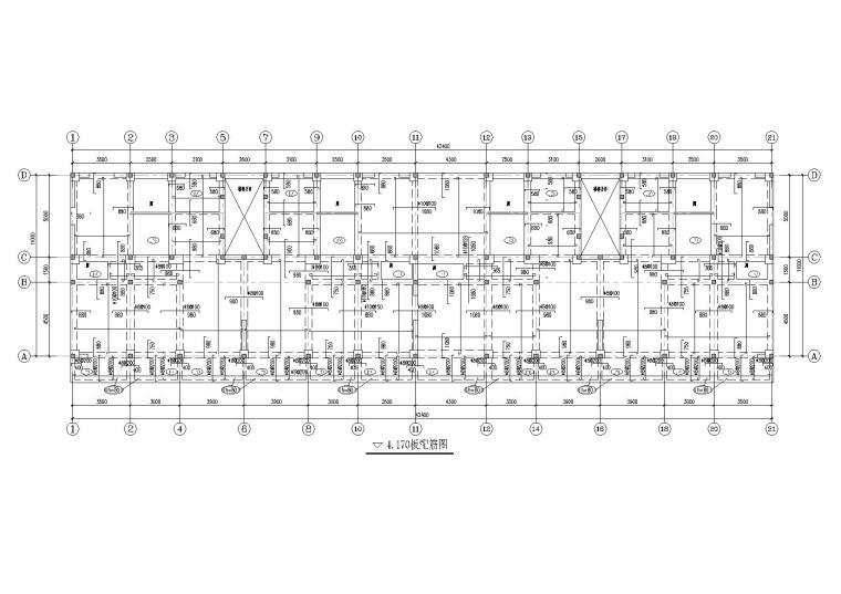 6层底框砌体结构住宅楼结构施工图纸