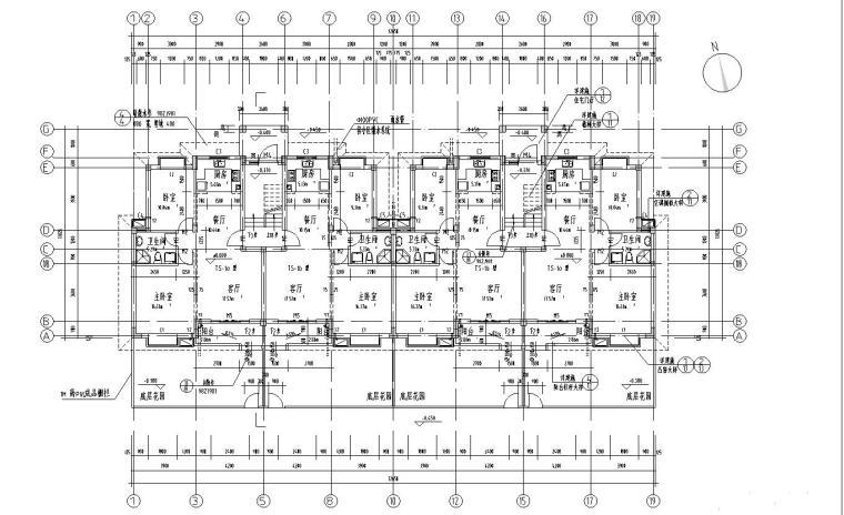 多层住宅标准层户型设计图