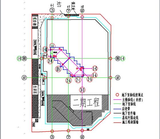 高层整体地下室测量方案(附图)