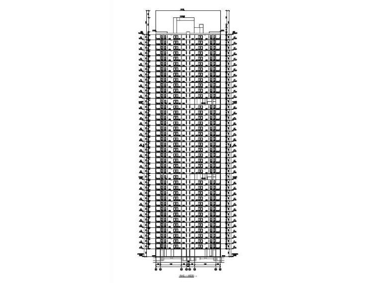 4栋超高层商住楼建筑施工图(含商业裙房)