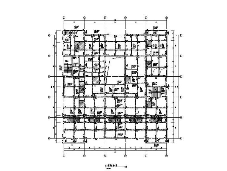 6层钢混框架结构康复楼建筑结构施工图2015