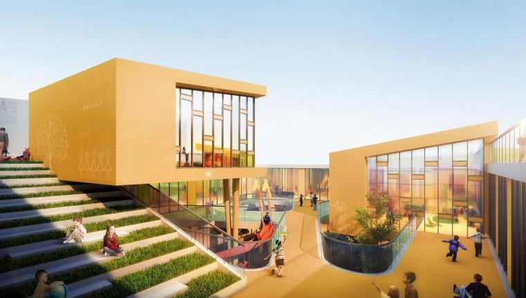 现代风格唯康路幼儿园建筑设计
