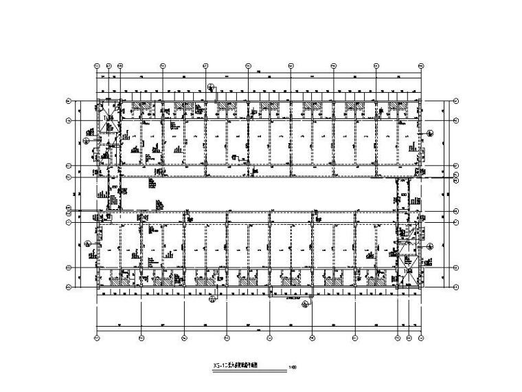 6层钢混框架结构学生宿舍建筑结构施工图