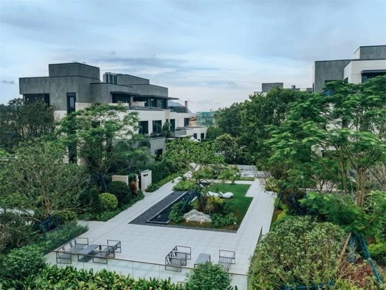 珠海九洲保利天和二期别墅展示区景观