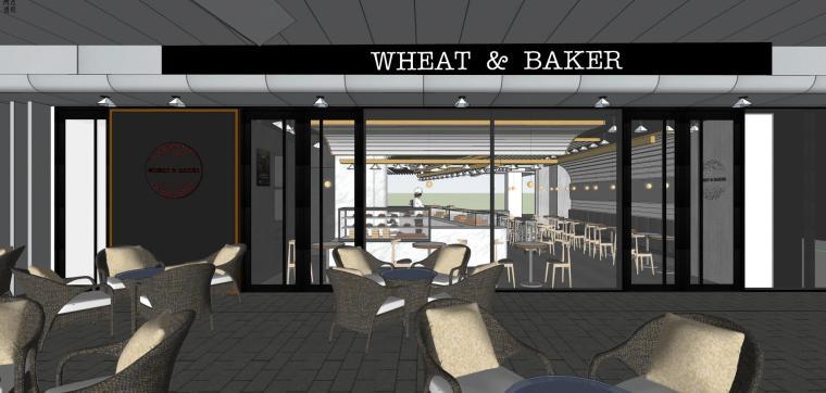 上海面包店建筑模型设计